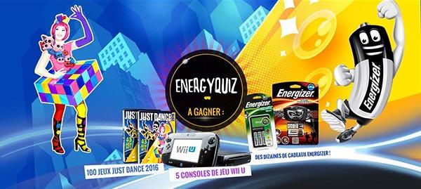 175 cadeaux à gagner avec Energizer et Juste Dance