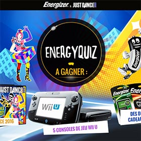 Concours Energizer & Just Dance : 175 lots (consoles Wii U…)