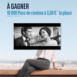 Jeu BNP Paribas : 10.000 pass cinéma Télérama à 3.5€ à gagner