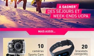 Jeu concours UCPA 100% gagnant : Séjours au ski, caméras …