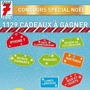 Grands jeux concours Télé7Jeux pour Noël : 1129 cadeaux !