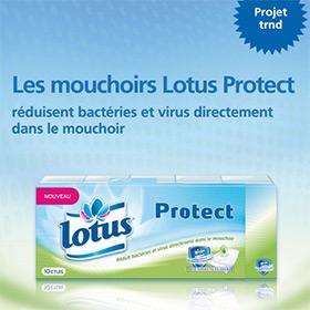 Grand test Lotus Protect avec TRND : Mouchoirs gratuits