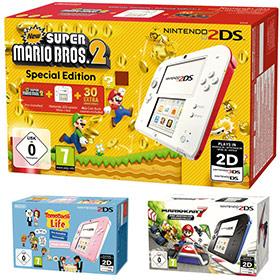 Auchan : Nintendo 2DS + Jeu = 45€ au lieu de 90€ (50% de réduction)