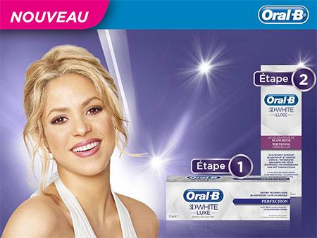 Testez la routine blancheur Oral-B 3D White Luxe