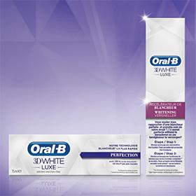 Testez les produits Oral-B 3D White Luxe : 5000 kits gratuits