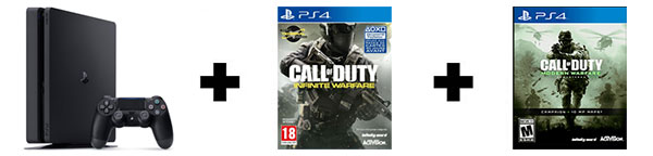 Console PS4 1 To Slim + 2 jeux Call of Duty