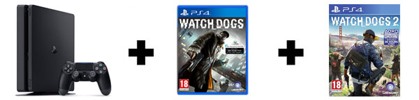 Console PS4 + 2 jeux Watch Dogs