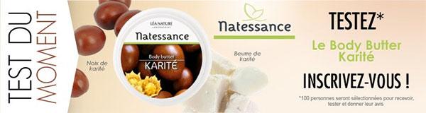 Testez le soin Body Butter Karité de Natessance
