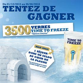 Jeu Hoegaarden Time To Freeze : 3500 verres gratuits à gagner
