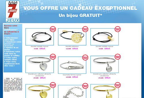 bon plan bijoux gratuit