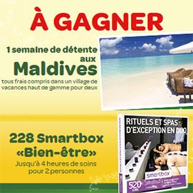 Concours Carrefour et Danone : Séjour Maldives + 228 Smartbox