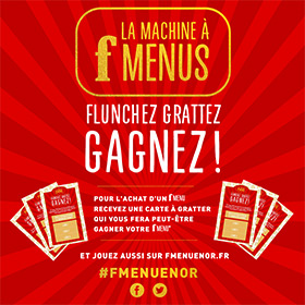 Jeu concours Flunch Le F Menu : 300 repas gratuits à gagner