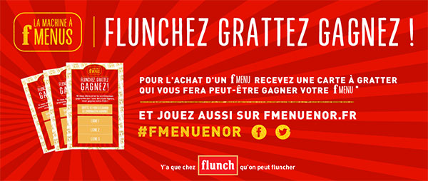 Jeu F Menu en Or dans les restaurants Flunch
