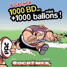 Jeu Télé7Jours : 1000 BD Rugbymen + 1000 ballons à gagner