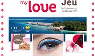 Jeu Nocibé Kiss my love : 651 cadeaux à gagner