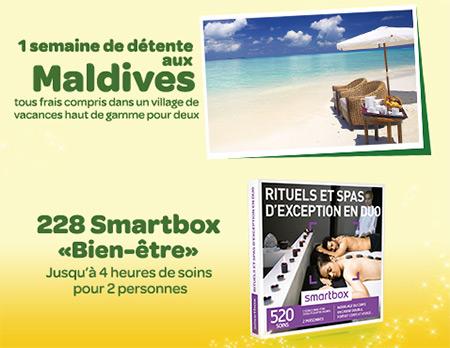 Les cadeaux à gagner au jeu Concours Carrefour et Danone