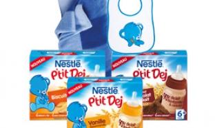 Produits Nestlé P'tit Dej gratuits