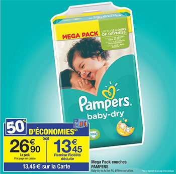 R duction couche pampers c ddiscount - Reduction couches pampers a imprimer ...