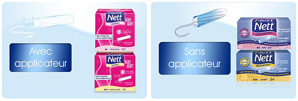 Tampons Nett : Échantillons offerts sur simple demande