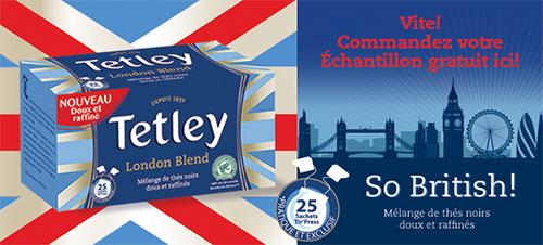Recevez un échantillon de thé Tetley London Blend