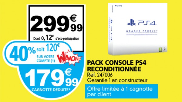 auchan playstation 4 en promo soit 40 de r duction. Black Bedroom Furniture Sets. Home Design Ideas