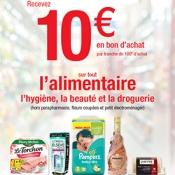 10€ offerts dès 100€ d'achat chez Carrefour