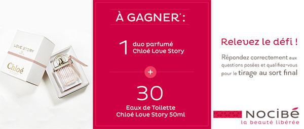 Les parfums Chloé Love Story à gagner