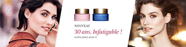 Soins Clarins infatigables Multi-Active