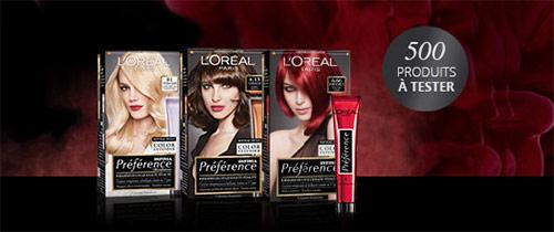 500 colorations Préférence Infinia de L'Oréal Paris gratuites