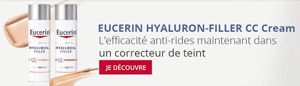 Échantillons gratuits de la CC Crème Eucerin Hyaluron-Filler