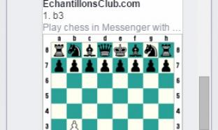 Déplacement pion jeu échecs Facebook