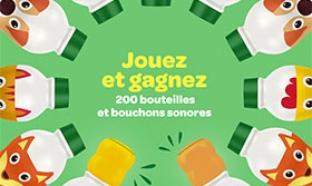 Jeu Blédilait Croissance : 200 bouteilles et bouchons sonores