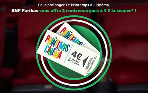 BNP Paribas prolonge le printemps du Cinéma