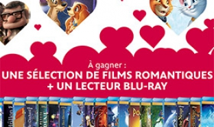 Jeu Disney Saint-Valentin : 20 films + lecteur Blu-Ray à gagner