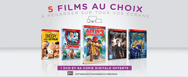 Liste des DVD offerts chez Mcdo