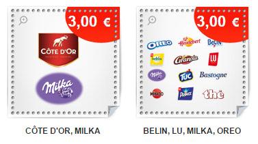 Milka, Lu, Oreo, Tuc, Belin … : Bons de réduction de 3€ à imprimer