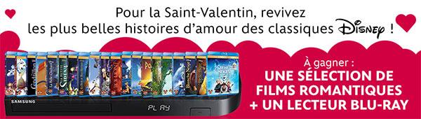 Concours Disney : Revivez les plus belles histoires d'amour en Blu-Ray