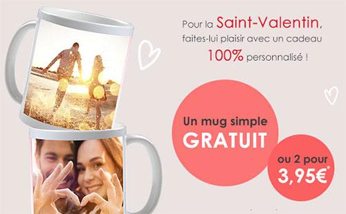 Cadeau Photoweb Saint-valentin : Mug personnalisé