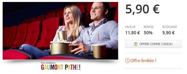 Place de cinéma Gaumont Pathé pas chère