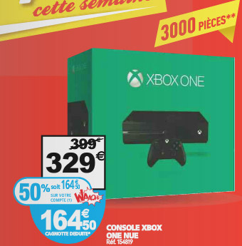 Auchan : Xbox One 50% de réduction