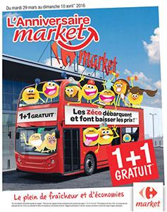 Catalogue Carrefour Market Anniversaire 2016