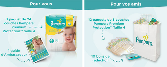 Colis de couches Pampers