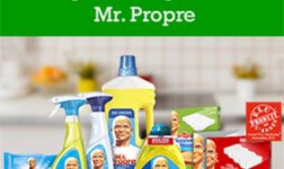 20 lots d'un an de produits Mr. Propre gratuits à gagner