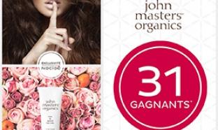 Jeu Nocibé : 31 lots de soins John Masters Organics à gagner