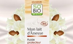 Test fluide protecteur Mon Lait d'Ânesse So'Bio étic : 100 gratuits