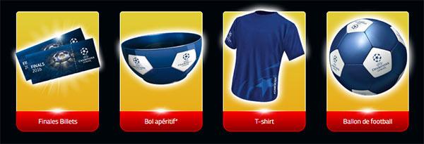 Les cadeaux UEFA à gagner avec Lay's