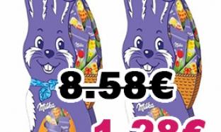 Optimisation Carrefour : 2 lapins Milka Napolitains pour 1.28€