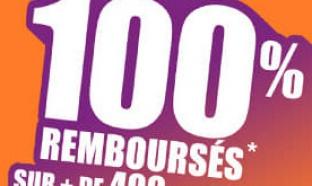 Auchan.fr : jusqu'à 100% remboursés