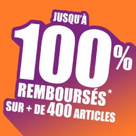 Auchan.fr : + de 400 articles jusqu'à 100% remboursés
