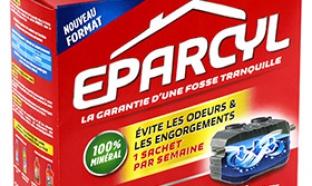 Échantillons gratuits Eparcyl pour fosse septique